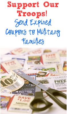 Send Your Expired Coupons to Military Families