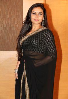 Rani Mukherjee Black Saree An Event# Bollywood Actress Hot Photos, Indian Bollywood Actress, Bollywood Girls, Beautiful Bollywood Actress, Most Beautiful Indian Actress, Bollywood Fashion, Indian Actresses, Hindi Actress, Vintage Bollywood