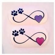 Image result for infinity dog paw tattoo #tattootips