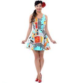 An amazing comic book dress.