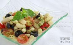 Alubias con salsa pesto - http://www.thermorecetas.com/alubias-salsa-pesto/
