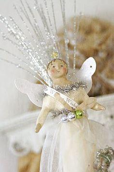 paper mache white angel