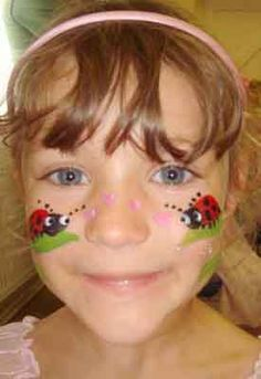 Face Painting Tips & Tricks: Face Painting Samples Easy Face Painting Designs, Face Painting Tips, Body Painting, Face Paintings, Ladybug Face Paint, Clown Face Paint, Face Paint Party, Princess Face Painting, Book Week Costume