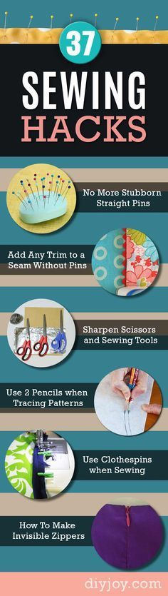 Sewing Hacks   Best Tips and Tricks for Sewing Patterns, Projects, Machines, Hand Sewn Items. Clever Ideas for Beginners and Even Experts     Use Mini Clothespins when Sewing Bindings and Piping     http://diyjoy.com/sewing-hacks