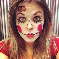 Scare Crow Makeup!   #scarecrow #halloween #halloweenmakeup