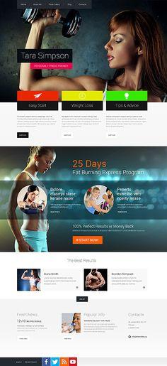 Template 52121 - Health & Fitness  Responsive Website Template