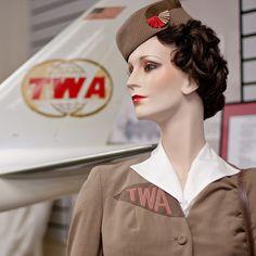 Vintage (1940s?) TWA Stewardess Uniform