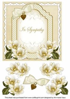 Cream Magnolia Special Day Fancy Decoupage Topper on Craftsuprint - Add To Basket! Fancy, Scrapbook Cards, Scrapbooking, Printable Crafts, Printables, Free Printable, Decoupage Paper, Decoupage Ideas, 3d Cards