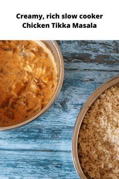 Slow cooker chicken tikka masala - creamy, curry that takes just minutes to prepare. #Tikka #ChickenTikka #ChickenTikkaMasala #ChickenCurry #ChickenRecipes #SlowCooker Frugal Recipes, Frugal Meals, Budget Meals, Freezer Meals, Paleo Recipes, Delicious Recipes, Yummy Food, Cooks Slow Cooker, Slow Cooker Chicken