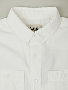 A.P.C. x Carhartt Men's New Clink Shirt in white at oki-ni