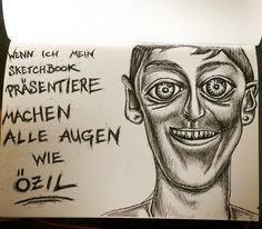 Augen wie Özil, Copic Marker, Illustration