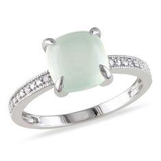 Beautiful milky aquamarine ring