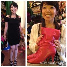 Natsu looks so cute on her new LBD and red 80's boots! #vintage #cutecustomer #happycustomer #redboots #1980 #madeinitaly #echopark #eaglerock #silverlake #losfeliz #losangeles #hollywood #highlandpark #dtla #thriftshop #lemonfrogshop