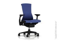 Herman Miller Embody – офисное кресло, разработанное специально для многочасовой работы в сидячем положении. Глубина сиденья корректируется для комфортного времяпровождения в кресле любого пользователя. Цвет ткани, каркаса и базы можно подобрать под дизайн любого помещения. Design Within Reach, Herman Miller, Gaming Chair, Chair Design, Blue, Furniture, Home Decor, Products, Decoration Home