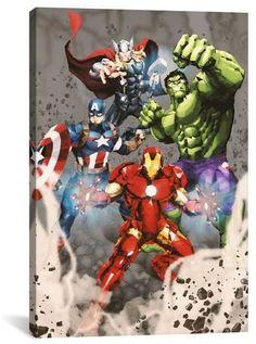 Apt2B Marvel Comics AVENGERS ASSEMBLE: CLASS ACTION POSE GEOMETRIC SITUATIONAL ART