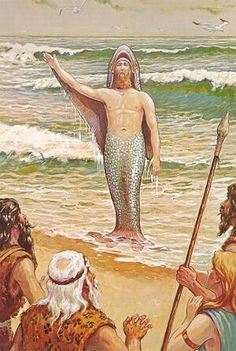 Legends from Peru to Sumeria, ancient Egypt to India, recount the arrival of god-like beings appearing after the great flood. Osiris and The Egyptian Thoth, India's Vishnu, Enki and Oannes of Sumerian and Babylonia, Quetzalcoatl and Viracocha in the Americas, are remembered in ancient worldwide legends as a group of beings collectively referred to as the Fisher Kings — fisher's of men
