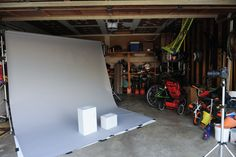 apple boxes in a garage photo studio by Alise Kowalski