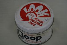 Rare Vintage GOOP Tin Can Hand Cleaner White 14 oz. Critzas Ind. STL USA #Goop