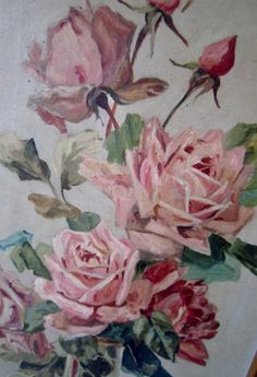 old rose painting