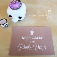 Carte postale Keep calm and drink tea