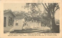 Glen Oaks Motel, 2700 ML King Drive, 3 blocks south of Euclid, photo taken in 30's or 40's, several of the cabins remain today