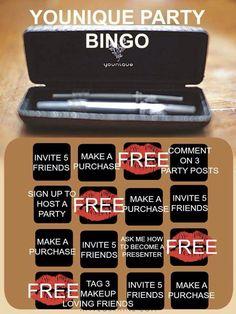 Younique's Party Bingo https://www.youniqueproducts.com/CarlaValdez