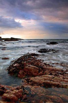 View at Irish Atlantic Ocean coast in Mullaghmore, County Sligo