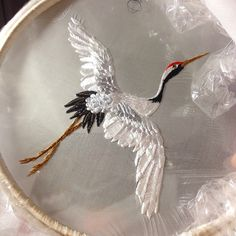 Ellie Mac Embroidery , embroidered bird #elliemacembroidery