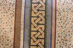 Mosaic floor border, Brighton museum