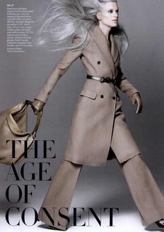 Kristen McMenamy by David Sims - Us Vogue Aug. 2010