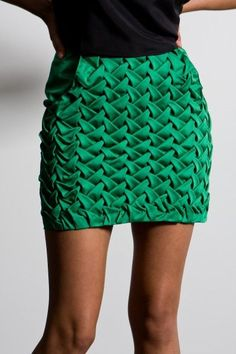 super cool green skirt // can't find the actual source link though.