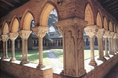 Cloister of the abbey church St Pierre de Moissac - France