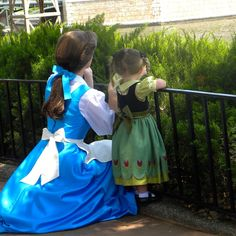 Belle and little Anna, I don't think I've ever seen anything this cute