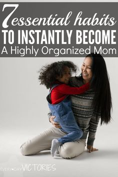 I immediately felt so calm in my day after I started with these organized mom tips. They are truly habits of successful people.