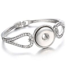 Snap Bracelet Silver Bangles