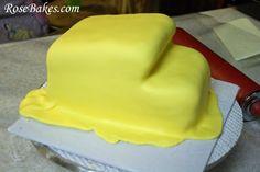 3D Dump Truck Cake Carving 5