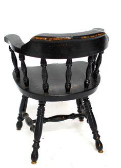 Vintage Black English Pub Chairs by ErinLaneEstate on Etsy