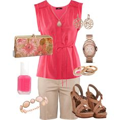 Springtime Pink, created by leach-005 - didn't realize the bracelet and necklace were so expensive!