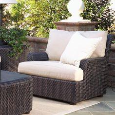 Woodard Aruba Patio Chair with Cushions Chair Fabric: Sunbrella Beachball Bluestone