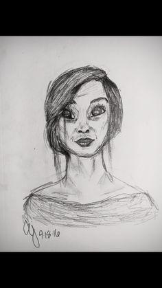 *お母さん*  Pencil sketch, self done.