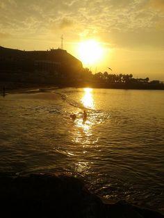 El mar y el sol, crean imágenes increibles.