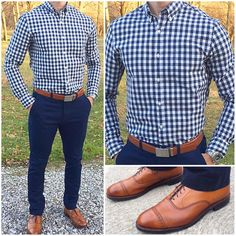 This is one of my favorite classic go-to outfits. If you like blue and gingham like I do, this is ...