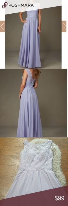 b19c3bbe1a Morilee by Madeline Gardner bridesmaid dress Beautiful bridesmaid dress in  light violet   lavender color.