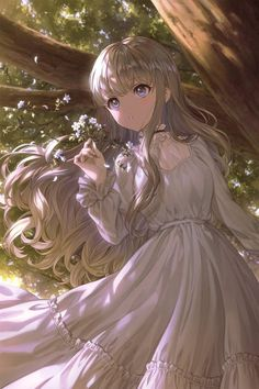 Anime Angel Girl, Anime Girl Dress, Manga Anime Girl, Cool Anime Girl, Pretty Anime Girl, Anime Girl Drawings, Beautiful Anime Girl, Anime Neko, Kawaii Anime Girl