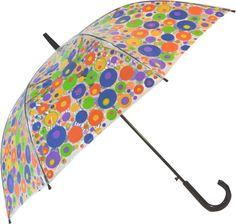 Durchsichtiger Regenschirm mit Punkte Motiv