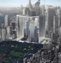 Imagen 19 de 21 de la galería de Los 20 rascacielos más innovadores de eVolo. Elegy of Skyscrapers: Museum of Manhattan Skyscrapers / Yike Peng, Fan Wu, Youyi Wang. Imagen cortesía de eVolo