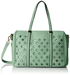 MG Collection Beatriz Cutout Bowling Tote Shoulder Bag Green One Size ** Click image to review more details.