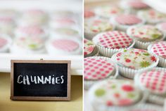 """I""""m not sure that I actually want to eat candied oreos, but they do make a cute addition to this baby shower menu."""