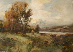 Paysage avec du bétail de William Bradley Lamond (1857-1924, United Kingdom)