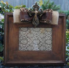 ༻❁༺ ❤️ ༻❁༺ Hand painted wood picture frame with embellished by LAPDesigns ༻❁༺ ❤️ ༻❁༺